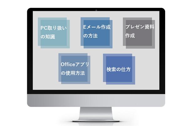 パソコン・OAスキル研修イメージ
